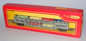 TRIANG HORNBY R342 CAR TRANSPORTER FRENCH ISSUE WITH ACHO COUPLINGS MINT BOXED