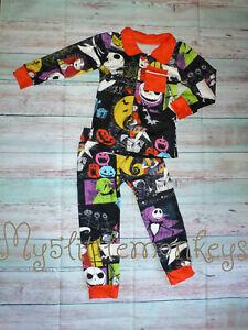 NEW Boutique Nightmare Before Christmas Jack Skellington Boys Pajamas