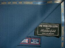 "SUPER 150's Wool & CASHMERE SUITING FABRIC IN ""UCLA Blue"" –MADE IN ENGLAND=1.92m"