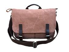 Brown 13 14 inch Laptop Notebook Tablet Ipad Canvas Messenger Satchel Bag Unisex