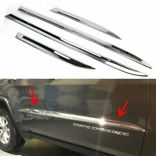 Door Body Side Cover fit For Jeep Grand Cherokee 2014-2018 Chrome Molding Trim