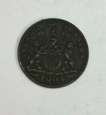 Antique 1804 Island Of Sumatra Copper One Keping Coin