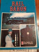 RAIL BARON Board Game 1977 Avalon Hill Tabletop Strategy Empire Builder Complete