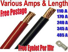 PVC flexy black red battery earth starter welding cable 110 170 240 345 485 amp