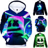 Kids Boys DJ Marshmallow Hooded Sweatshirt Pullover Jumper Winter Casual Hoodies