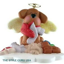 DOG IN HEAVEN BROWN CHRISTMAS TREE ORNAMENT SO CUTE!