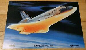 Vintage Original Space Poster Space Shuttle Tiles Lockheed NASA