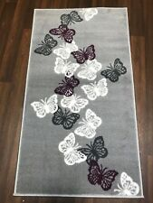 NOVELTY 60CMX110CM APROX 4X2FT WOVEN RUGS/MAT BUTTERFLYS BARGAIN TOP QUALITY