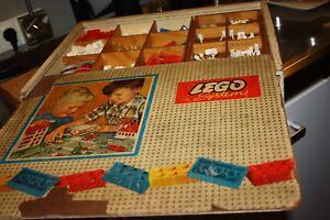 700er Holzbox-Set    System im Spiel     Lego Baukasten von 1958 Konvolut  voll