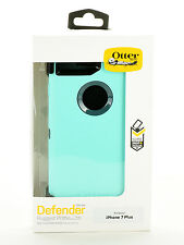 "OtterBox Defender Rugged Case w/Holster iPhone 7 Plus 5.5"" Teal Blue/Green Used"