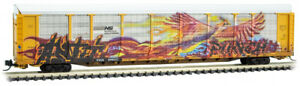 Micro-Trains MTL N-Scale 89ft Auto Rack Norfolk Southern/NS Graffiti #996637