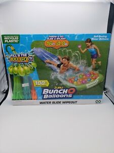 Zuru Bunch O Balloons Water Slide Wipeout 16ft 100 Balloons Included