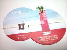 REKORDERLIG  - Swedish Fruit Cider  - Beermat / Coaster  - 2 sided
