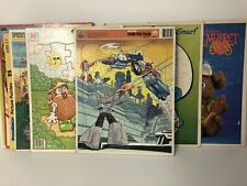 Vintage Golden, MB, Whitman Frame Tray Puzzles Lot Of 8 - Go Bots! Muppets!