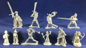 10 Ral Partha Metal Miniatures D&D 1979-91 no paint Characters Dragonlance+