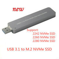 NVMe SSD to USB 3.1 Adapter Converter For PCI-E M.2 2280 SSD Enclosure Case New