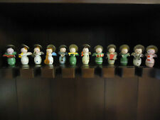 12 Vintage Small Wooden Angel Band Members, 1970's
