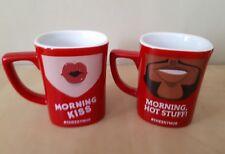 2 X Nescafe Mugs Morning Kiss & Morning Hot Stuff # Cheekymug Good Condition