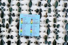 Free Wholesale Lots 50Pcs Mix Style Change Color With Mood Cards Silver P Rings