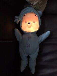 2002 Disney Winnie The Pooh Baby Pooh Musical Light Up Soothing Star Pooh