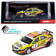 INNO64 1:64 Honda Accord Euro-R CL7 #1 (Yellow) - 2020 Macau GP Collection