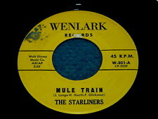 """THE STARLINERS """"Mule Train"""" 45 : Wenlark 45 @ Private 1960s Surf ROCK"""