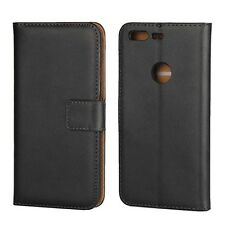 "For Google Pixel 5"" Black Genuine Leather Classic Wallet Flip Case Cover Stand"
