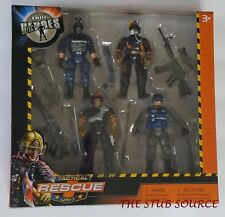True Heroes Tactical Rescue Unit 4 Pack Figures Toys R Us  Exclusive 2017 BNIB