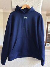 Men's Under Amour Hoodie Hooded Sweatshirt Navy Blue L Loose