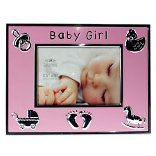 Pink Baby Girl Photo Frame Kids Children Picture Holder Gift Image Display Box