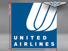 UNITED AIRLINES UAL SQUARE TULIP LOGO DECAL / STICKER