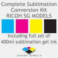 Tinta De Sublimación Kit RICOH SG Gel Impresora SG2100 SG2100N SG3110 SG3110DN SG7100DN