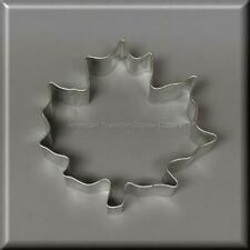 "3.5"" MAPLE LEAF METAL COOKIE CUTTER FALL TREE #NA3029"