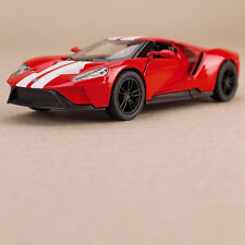 Ford GT 2017 Die-Cast Model Car Red 1:38 Scale Opening Doors Pull-Back Action