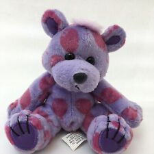 "Chilly Teddy Bear Pink Purple Balloons Sitting Teddy A & A Plush 5"" Lovey Toy"