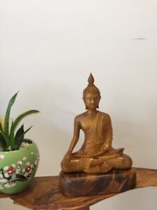 Wooden Thai Buddha Statue