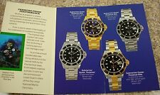 Vintage 1991 Rolex Submariner Brochure Booklet in English