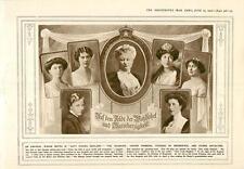 1915 Kaiserin Crown Princess Duchess Of Brunswick Illustration Aeroplane Bombing