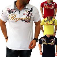 ZAHIDA Herren T-Shirt Shirt Clubwear V-Kragen Sommer Polo Top T-Shirt Wow NEU