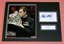 MARK SELBY SNOOKER HAND SIGNED AUTOGRAPH PHOTO MOUNT