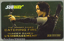 2013 Subway Canada THE HUNGER GAMES collectible gift card (ncv) French/Eng