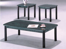 modern designed 3pc Cocktail Table Set with decorative Marble Print Top -Asdi