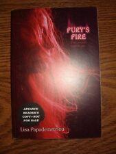 Fury's Fire by Lisa Papademetriou (2012, SC) Advanced Readers Copy  RARE