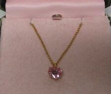 Juicy Couture Pink Heart Crystal Necklace New in Box, Perfect Gift, Rare
