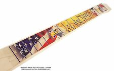 Patriotic USA Peel-'n-Stick Fretboard Decal for Cigar Box Guitar - 25-Inch Scale