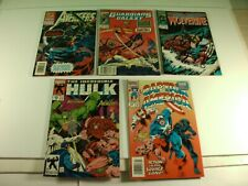 Lot of 5 Marvel Comics Avengers Hulk Captain America Wolverine Guardians 1991-93