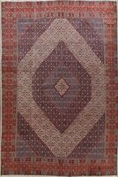 Vintage Mood Geometric Area Rug Hand-Knotted Oriental Traditional Carpet 10'x13'