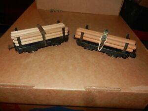 2 MARX Pole Cars, 6 inch, 4 Wheel, Original