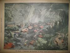 SAVOIE LES FOURNEAUX INONDATIONS INCENDIE RUE SAINT MAUR LE PETIT PARISIEN 1906