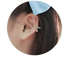 BEAUTIFUL CLIP ON EAR CUFF WITH CRYSTAL DROP ROCK PUNK EDGY CHRISTMAS GIFT
